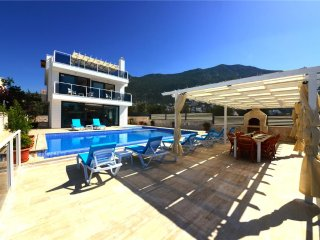 Villa Kalkan Close Town is 5 Bedroom, Private Pool With Seaview Walkable to Town