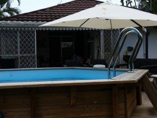 Jolie bungalow a louer avec piscine privatif, Le Diamant
