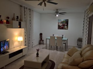 Newly decorated open plan living/dining area