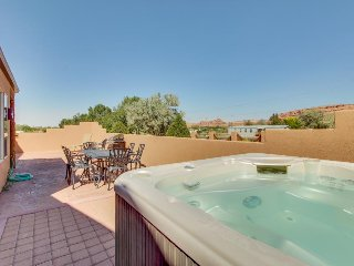 Newly Updated and deep cleaned with  private hot tub, and shared seasonal pool!