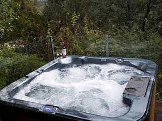 8 seater spa on the deck