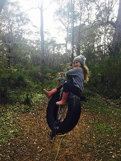 Fun on our tyre swing!