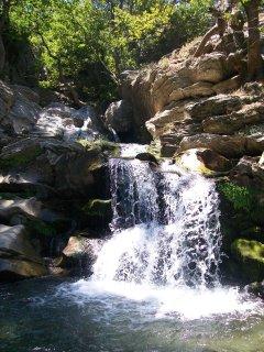 The waterfalls at Dimosaris gorge