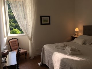 Romantic bedroom with super king size bed, Egyptian cotton bedding Stunning views, walk-in wardrobe.