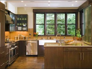Contemporary decor with open living plan - Gourmet Kitchen (8298), Aspen