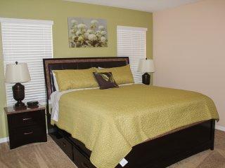Bedroom 1 downstairs master with walk in closet and en-suite bathroom
