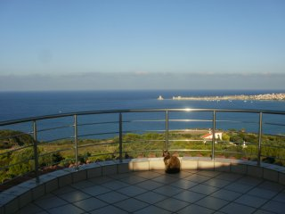 Methoni-Charly Point villa-apartment ground floor-rez/sea view/above ground pool