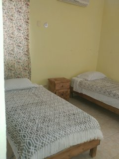Twin size beds downstairs
