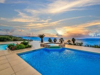 DREAMIN BLUE...  Gorgeous panoramic views from this stunning new villa in