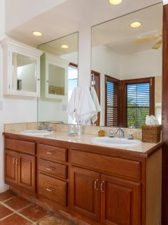The Poolside Master Suite offers an en-suite bathroom