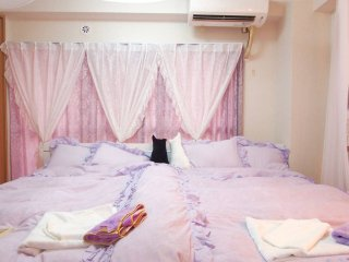 The princess room★1min walk St★Wifi#14#304554