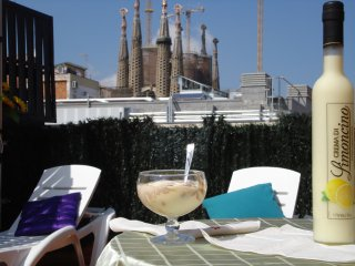 SAGRADA FAMILIA FLAT 2 ROOM 2 BATH TERRACE PARKING, Barcelona