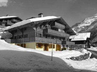 Appartement lumineux avec belle vue sur les montagnes et le village