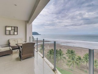 Gorgeous oceanfront retreat with sweeping views and a shared pool!