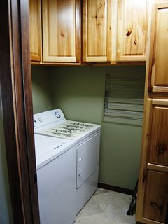 Utility room with full size washer & dryer