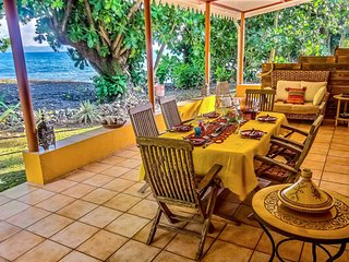 Villa moderne 3CH, accès direct plage tranquille, Case-Pilote