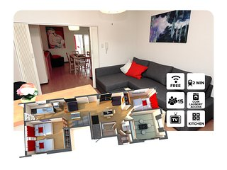 SHIMA#4 3 Bedrooms 難波&心斎橋付近!