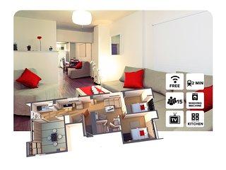 SHIMA#3 4 Bedrooms 難波&心斎橋付近!
