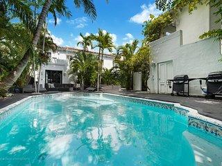 15 Room Art Deco Pool Villa Mansion Estate, Miami Beach
