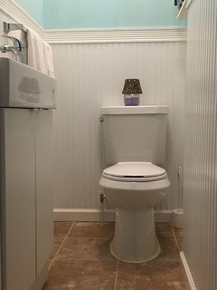 wc next to the living room