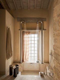 Custom-designed double shower in Muri Antichi 2.