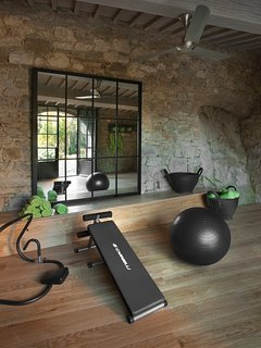 Private gym.