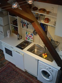 dishwasher, washing machine, owen, micro etc. fully equipped kitchen