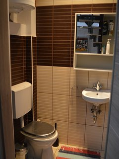 Bath room with toilet