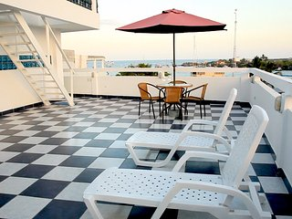 Look forward to lounging in the ocean breeze on the main terrace.
