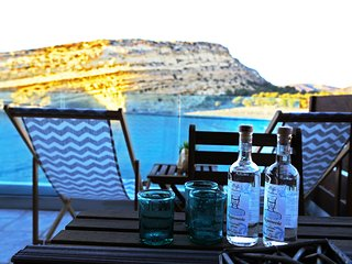 Matala Caves seafront apartment