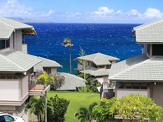 Kapalua Bay Single Story Top Floor Ocean Views!
