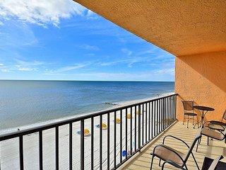 Trillium 5B Beach Front Condo with Private Balcony/Gulf Views/Pool!