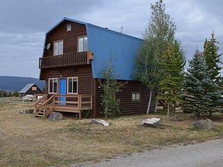 This charming modified A-Frame cabin overlooks Henry's Lake., Macks Inn