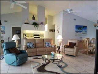 Beautiful vacation home. Three bedrooms, three bathrooms,  pool,  overlooking