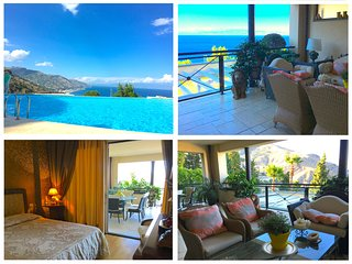 TAORMINA PANORAMIC ROOM with Sea View Terrace + Pool