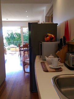 View of kitchenette, micro and fridge