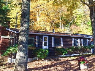 Creekside Log Cottage With Sunroom, Big Indian, NY