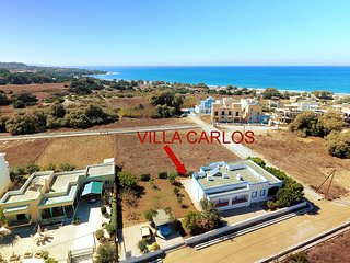 Seafront Villa Carlos with luxury garden, Mastichari