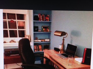 Desk with lamp, wifi, chair- everything you need to work