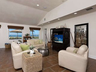 Elegant Direct Beachfront Home with Heated Pool, Guest House & Private Beach