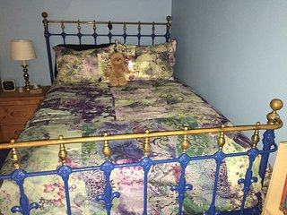 Full sized  brass bed