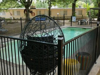 Adina Family Focus Lodge :  Lorikeet Room : Views of the Gardens and Pool., Bright