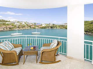 LIGHTHOUSE 5A... 3BR condo overlooking Oyster Pond, St Maarten