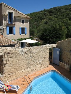 Stone  country village house with pool in beautiful courtyard and terrace.
