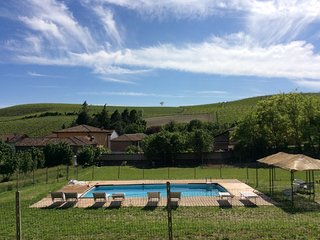 Villa La Martina-piscina tra i vigneti UNESCO