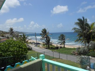 Beautiful view of the East coast from the patio, Bathsheba