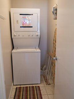 Washer and dryer is in the unit