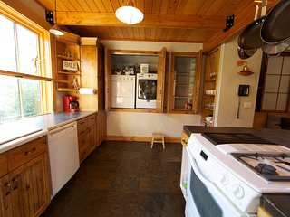 Washer and Dryer are just off the kitchen.