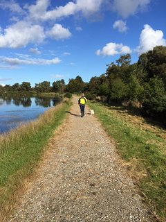Two of our visitors enjoying the new paths around the lochs