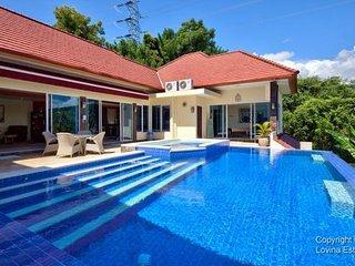North Bali Lovina hillside Villa Ebel with ocean & mountain view